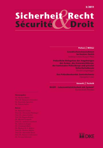 Sicherheit & Recht / Sécurité & Droit 03/2011