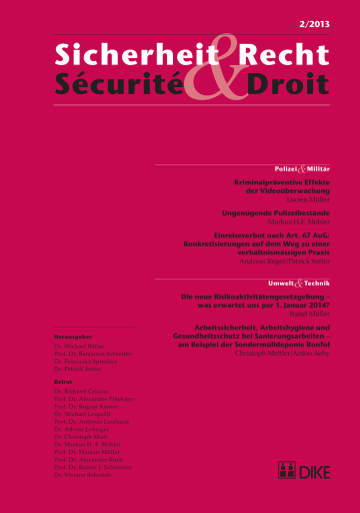 Sicherheit & Recht / Sécurité & Droit 02/2013