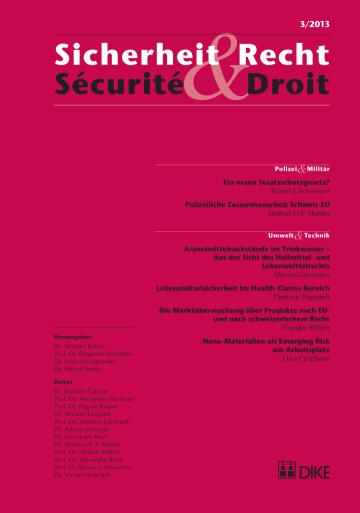 Sicherheit & Recht / Sécurité & Droit 03/2013