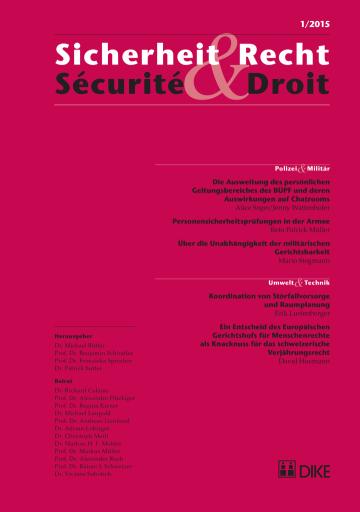 Sicherheit & Recht / Sécurité & Droit 01/2015