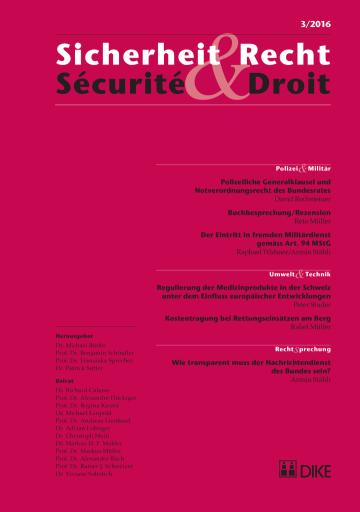 Sicherheit & Recht / Sécurité & Droit 03/2016