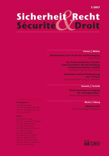 Sicherheit & Recht / Sécurité & Droit 01/2017