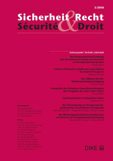 Sicherheit & Recht / Sécurité & Droit 03/2018