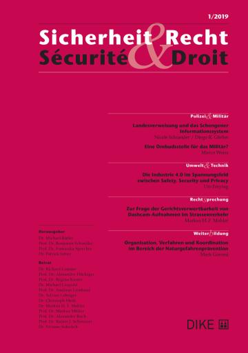 Sicherheit & Recht / Sécurité & Droit 1/2020