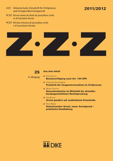 ZZZ 2011/2012 Heft 25