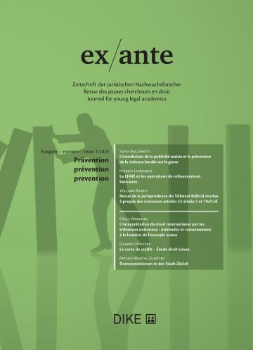ex/ante 1/2020