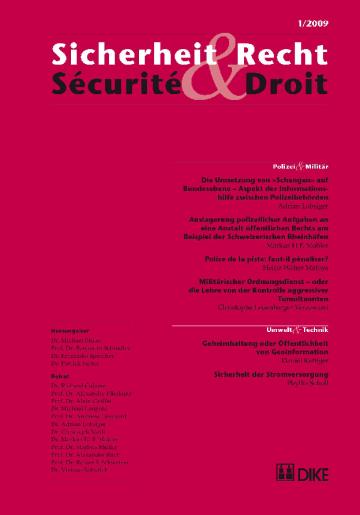 Sicherheit & Recht / Sécurité & Droit 01/2009