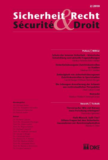 Sicherheit & Recht / Sécurité & Droit 02/2010