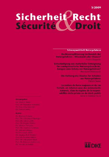 Sicherheit & Recht / Sécurité & Droit 03/2009