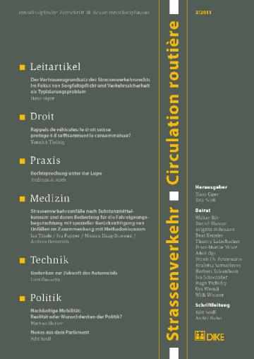 Strassenverkehr / Circulation routière 3/2011
