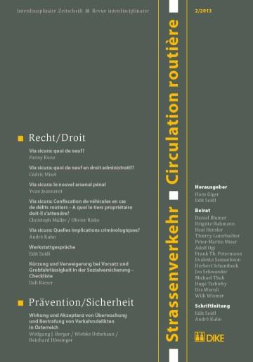 Strassenverkehr / Circulation routière 2/2013