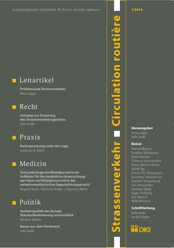 Strassenverkehr / Circulation routière 1/2014