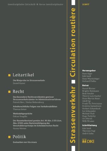 Strassenverkehr / Circulation routière 2/2017