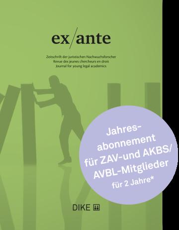 ex/ante Abonnement für ZAV- und AKBS/AVBL-Mitglieder