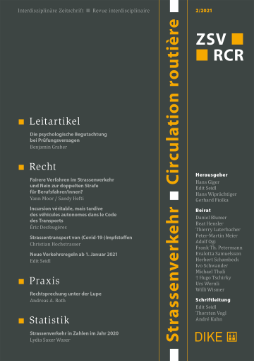 Strassenverkehr / Circulation routière 2/2021
