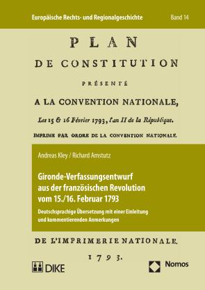 Gironde-Verfassungsentwurf aus französichen Revolutionen vom 15./16. Februar 1793