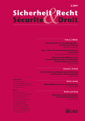Sicherheit & Recht / Sécurité & Droit 02/2017