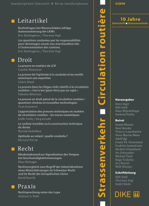 Strassenverkehr / Circulation routière 3/2019