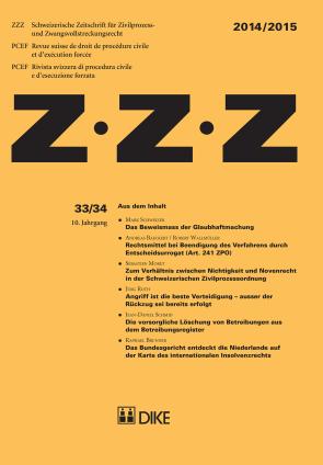 ZZZ 2014 / 2015 Heft 33 / 34