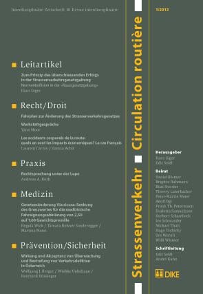 Strassenverkehr / Circulation routière 1/2013