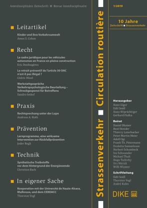 Strassenverkehr / Circulation routière 1/2019
