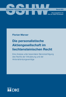 Die personalistische Aktiengesellschaft im liechtensteinischen Recht