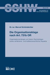 Die Organisationsklage nach Art. 731b OR