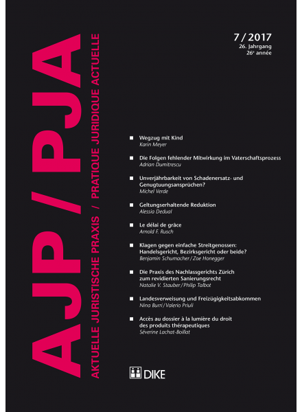 Coverbild AJP/PJA