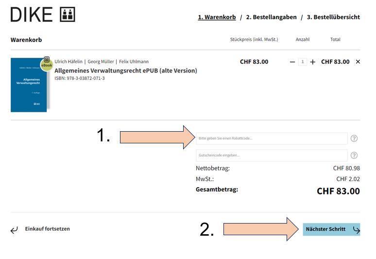 Allgemeines Verwaltungsrecht E-Book Download Anleitung